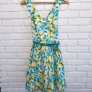 1950s inspired Elle lemon dress